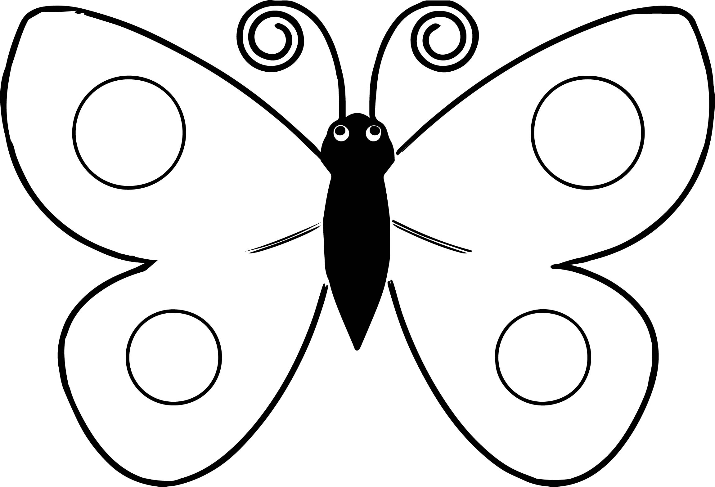 Butterfly Spotted Wings Yellow Coloring Page