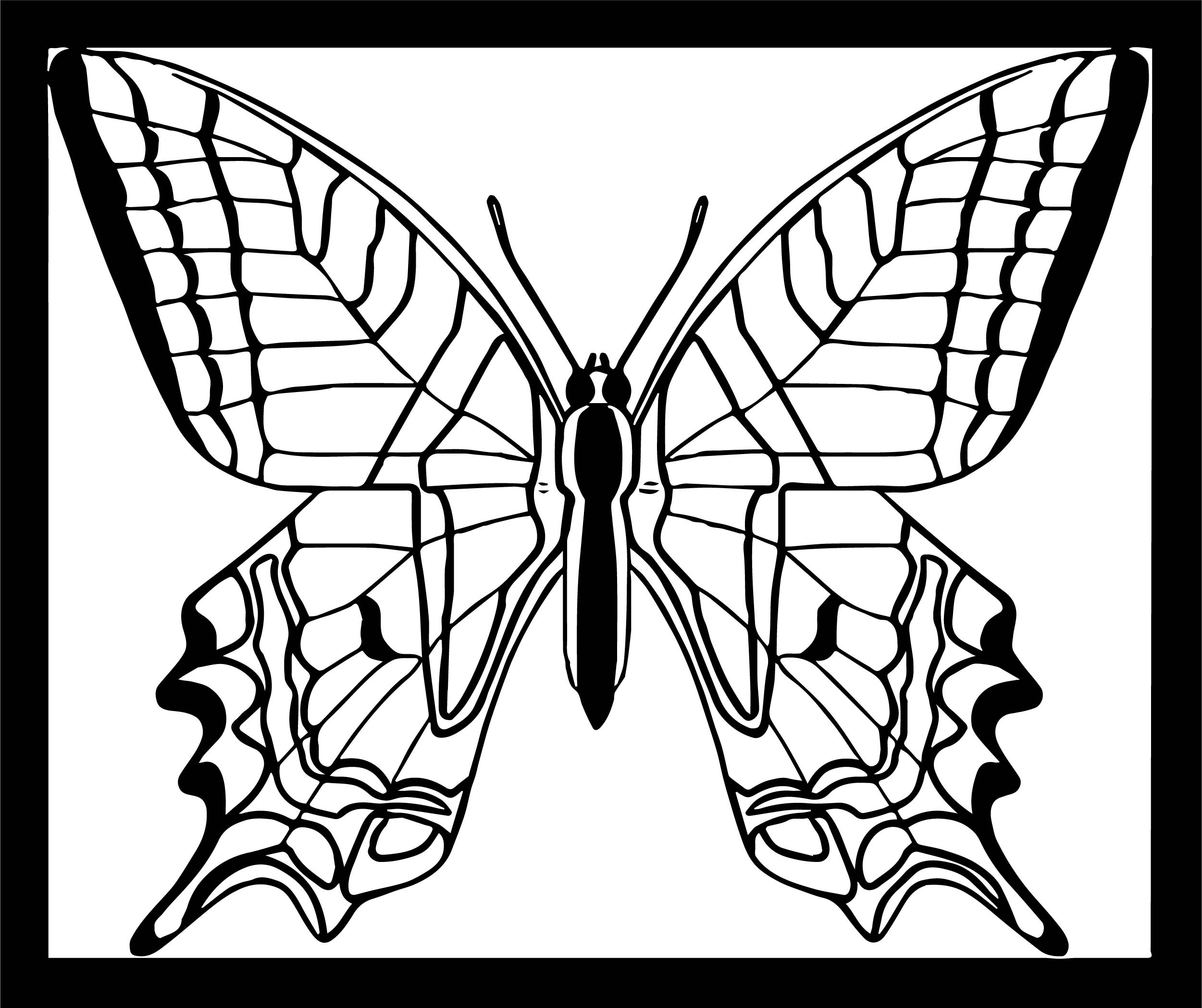 Butterfly Yellow Swallowtail Coloring Page