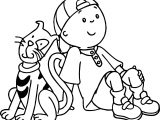 Caillou Big Cat Coloring Page
