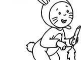 Caillou Bunny Dress Coloring Page