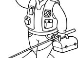 Caillou Fishing Man Coloring Page