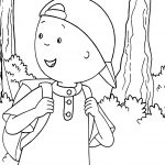 Caillou Out Hiking Caillou Coloring Page