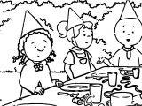 Caillou Picnic Coloring Page