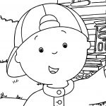 Caillou Selfie Coloring Page