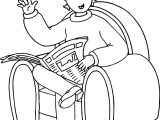 Caillou Sit Coloring Page