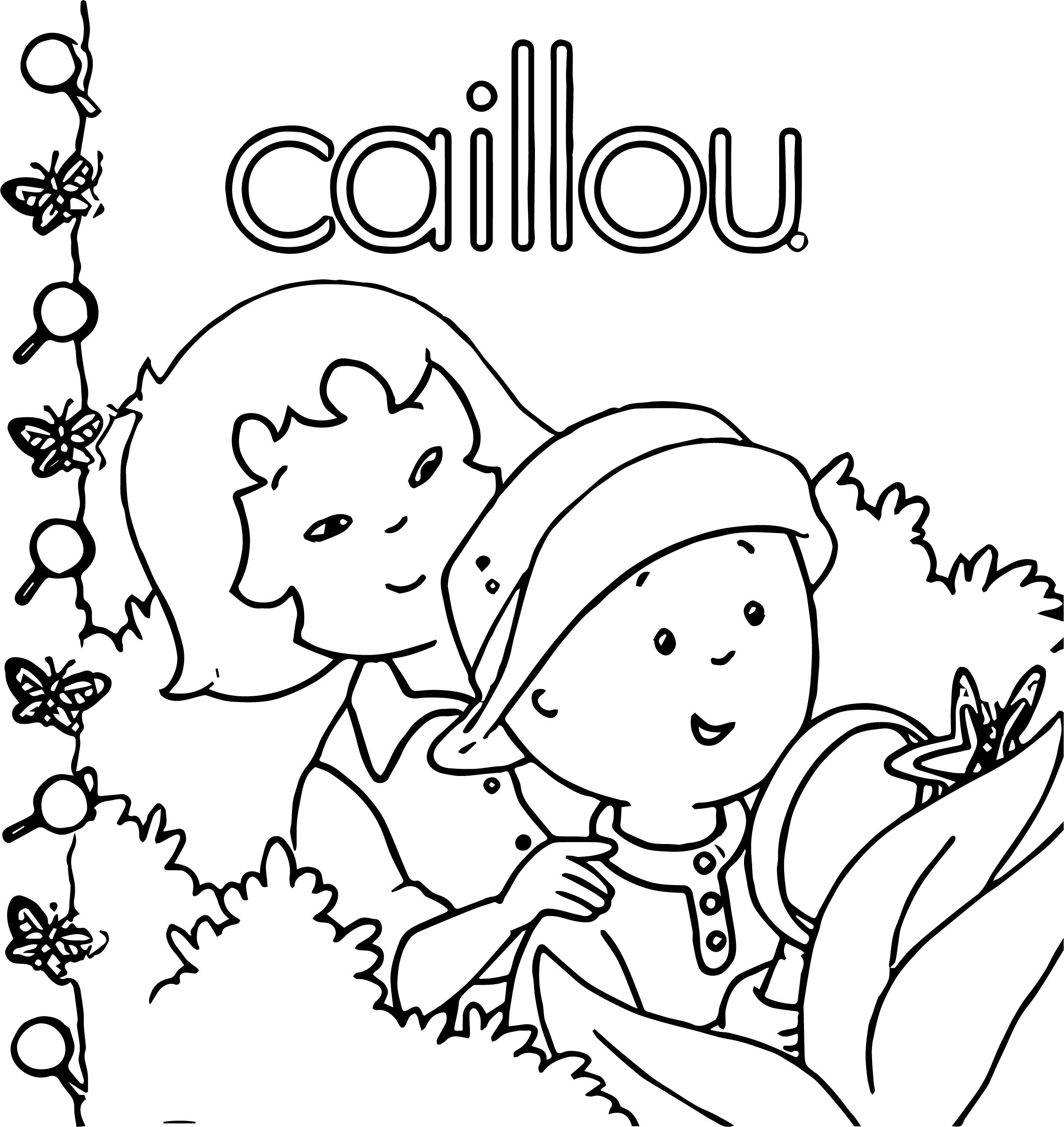 Caillou Tree Caillou Coloring Page