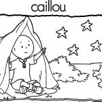 Camp Caillou Coloring Page