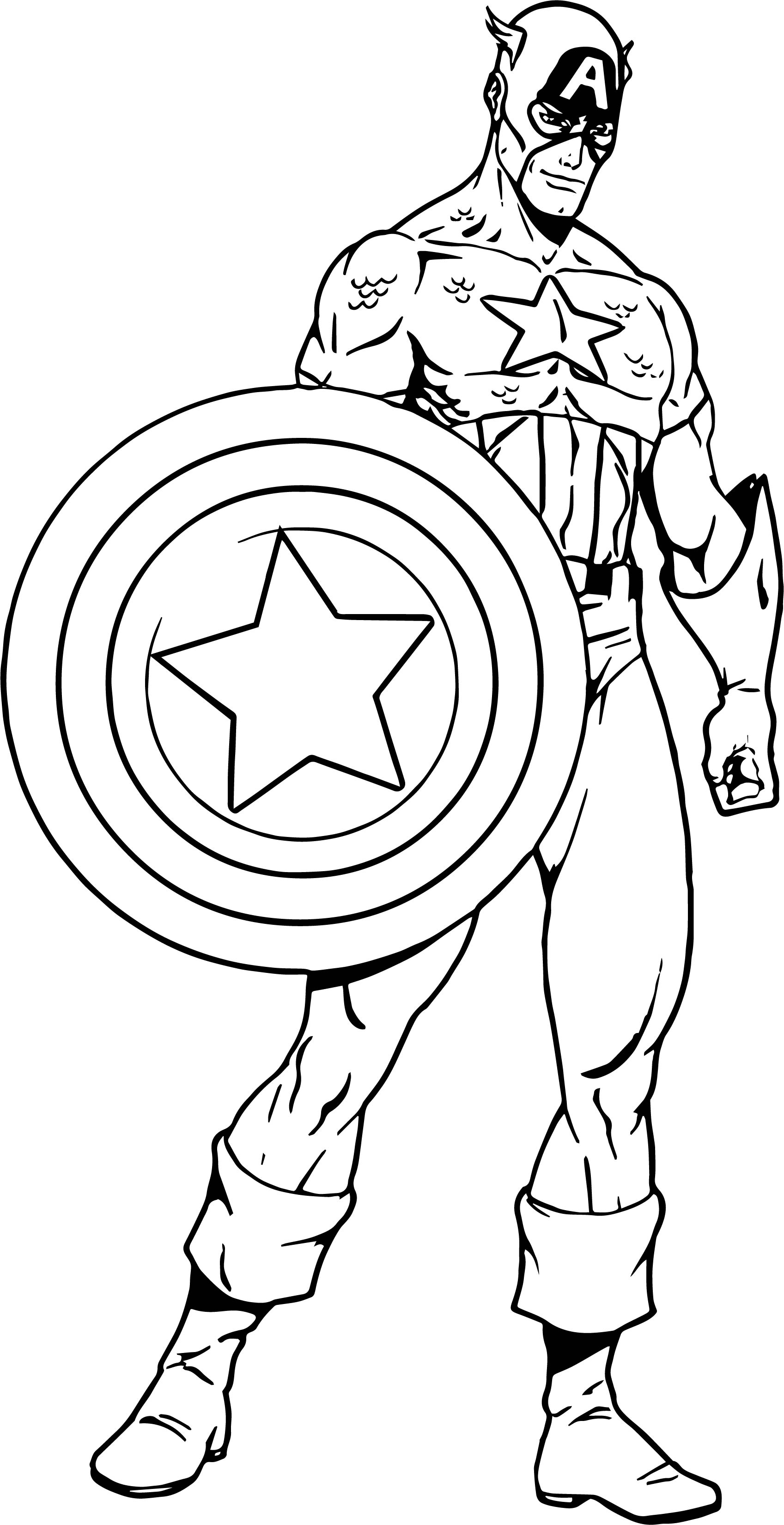 Captain america captain ready coloring page for Coloring pages captain america
