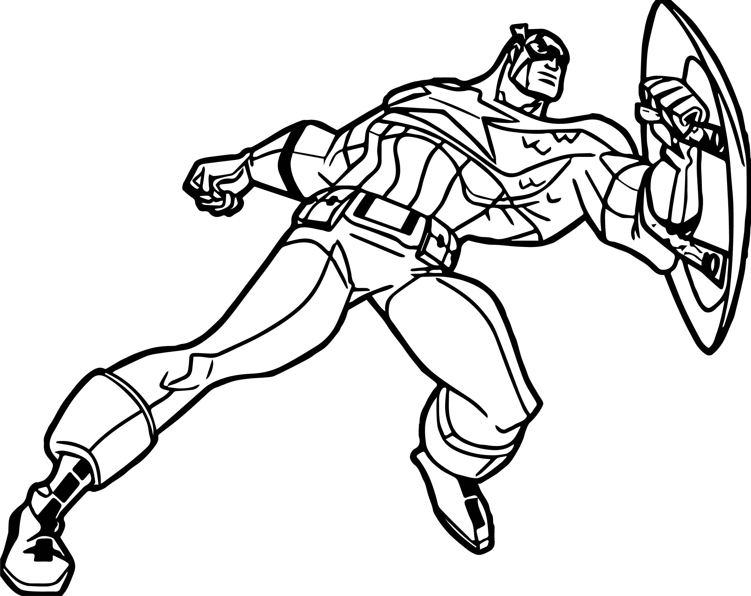 Captain Guard Coloring Page