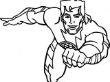 Captain Man Flying Coloring Page