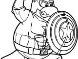 Captain Penguin Punch Guard Coloring Page
