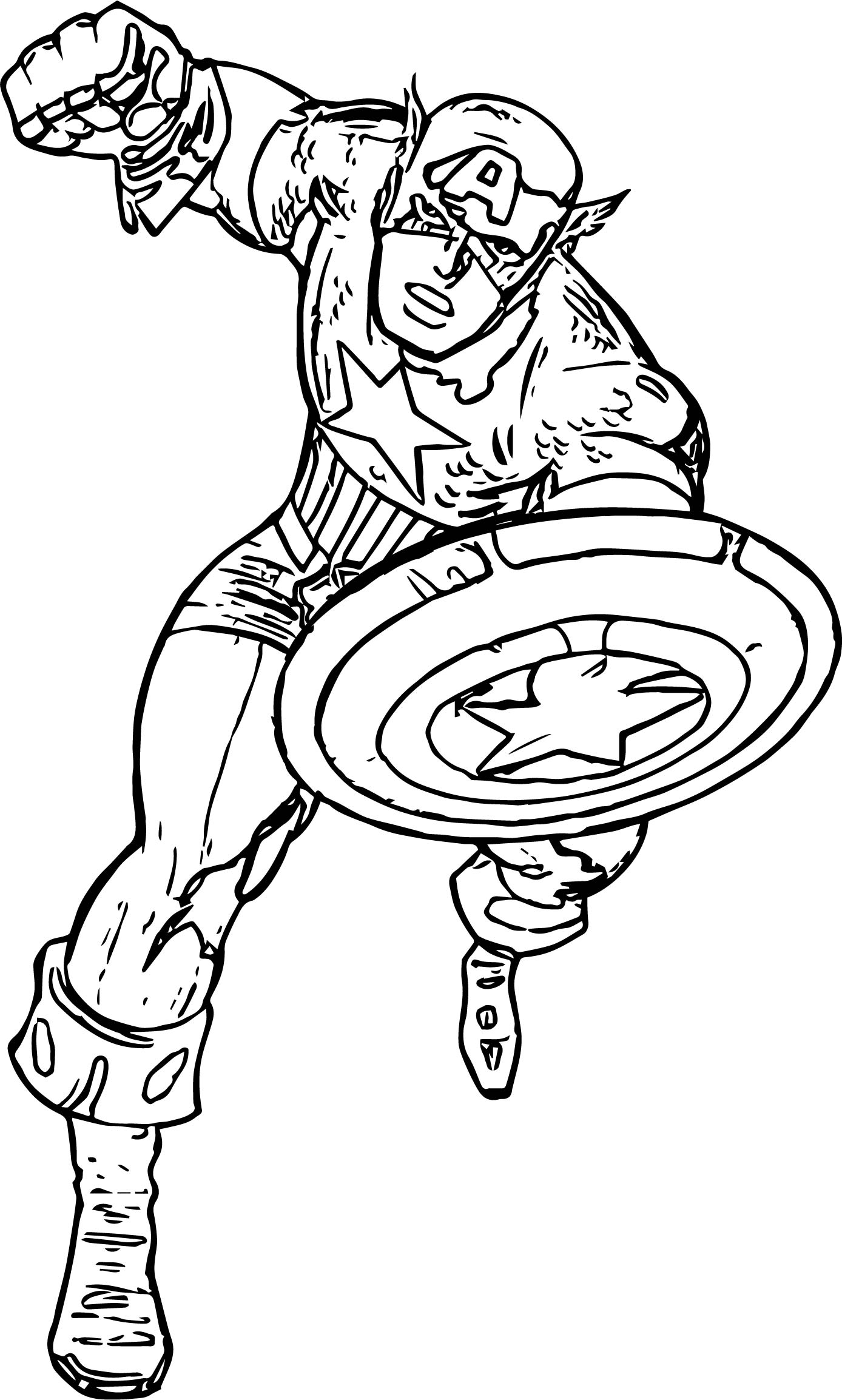 Captain Punch Coloring Page