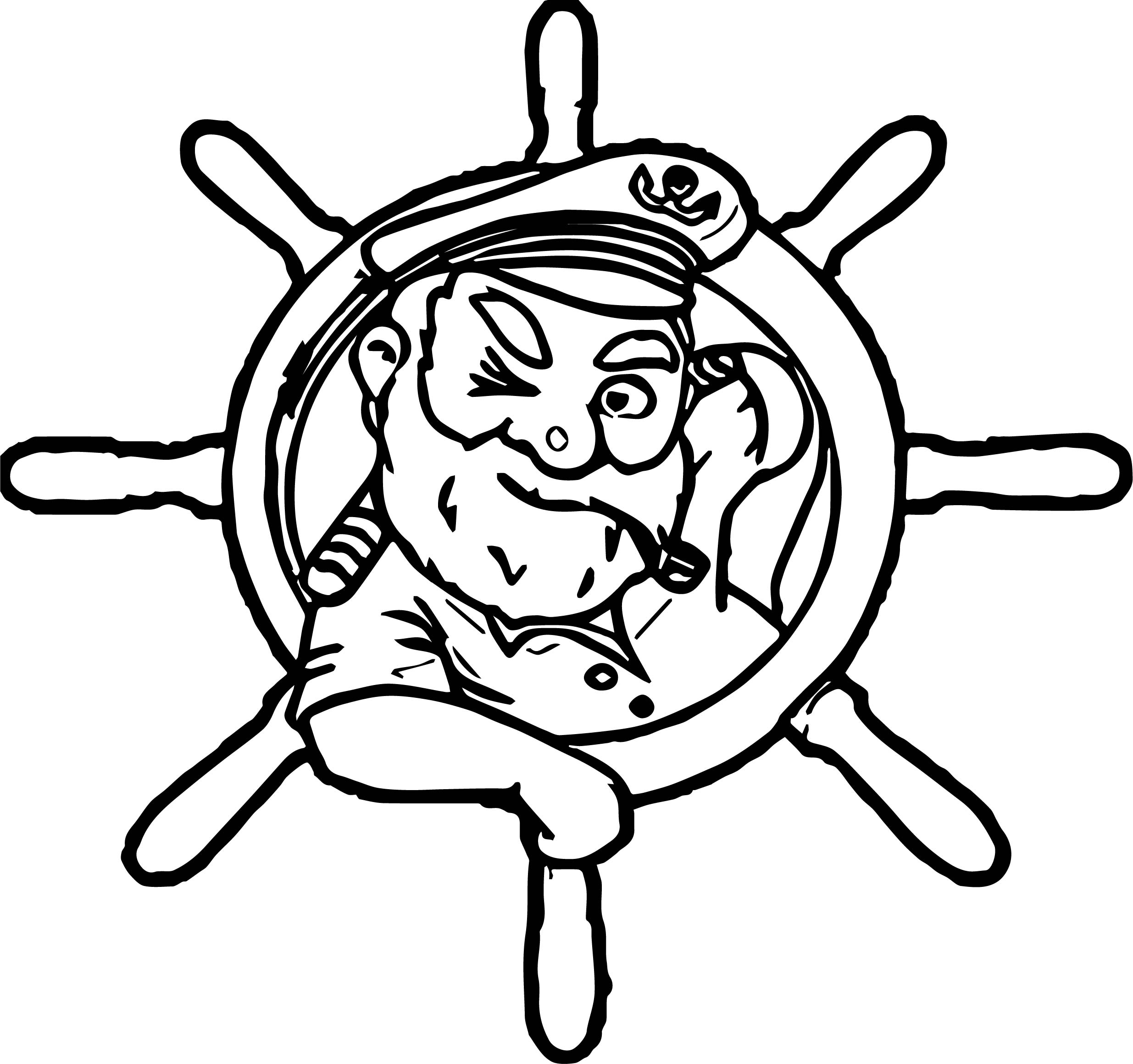 Captain Rudder Man Coloring Page