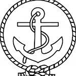 Captain Ship Logo Coloring Page