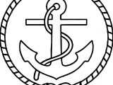 Captain Ship Logo Coloring Page