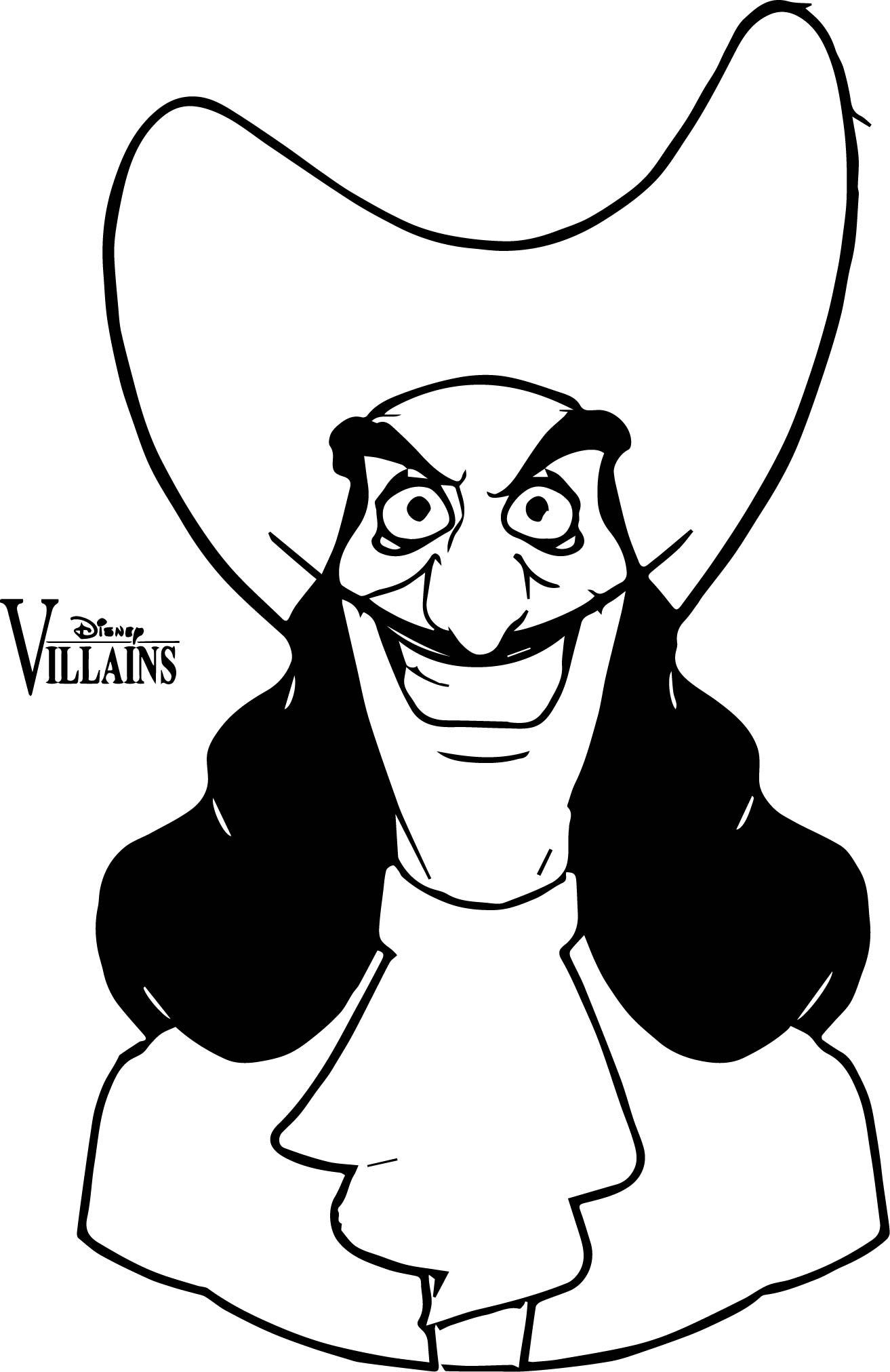 Captain Villains Coloring Page