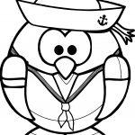 Cartoon Captain Penguin Coloring Page