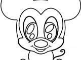 Chibi Baby Mickey Coloring Page