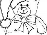 Chrismas Bear Coloring Page