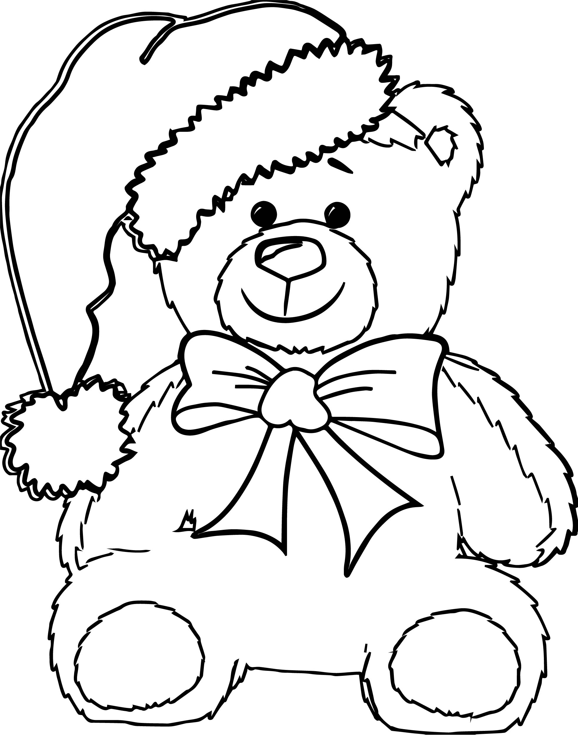 Chrismas Bear Coloring Page