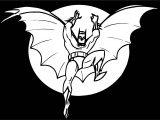 Comics Batman Black Background Coloring Page