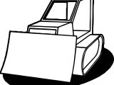 Coming Bulldozer Coloring Page