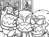 Crazy Teen Titans Go Robin Coloring Page