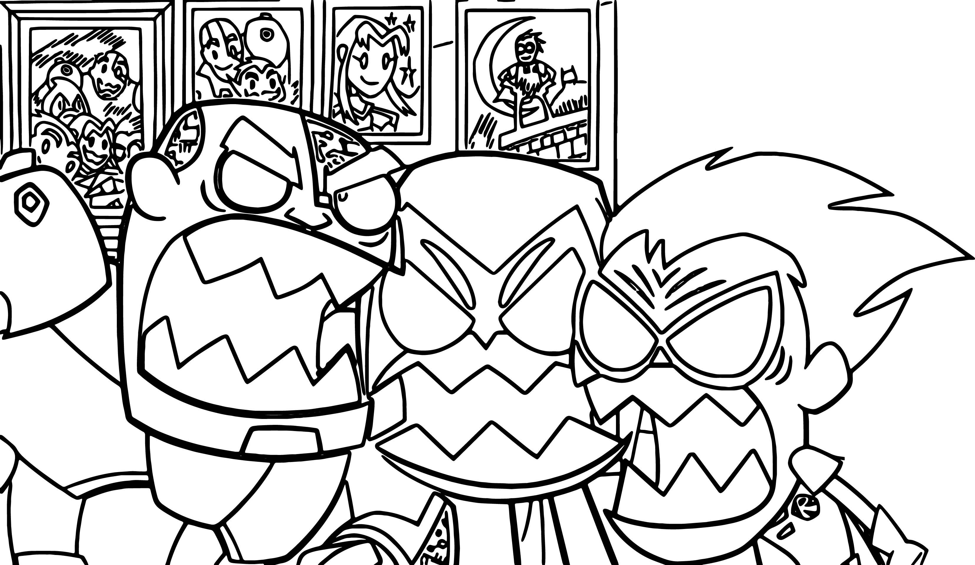 Crazy Teen Titans Go Robin Coloring Page