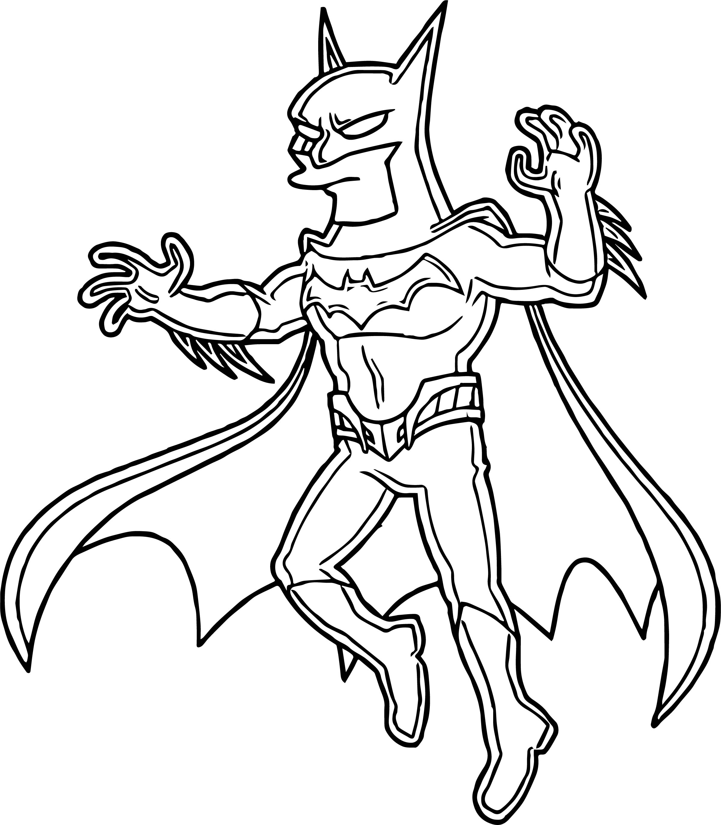 DC Comics Beware The Batman Coloring Page