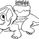 Dinosaur Birthday Coloring Page