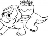 Dinosaur Birthday Coloring Page