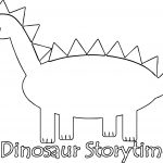 Dinosaur Storytime Coloring Page