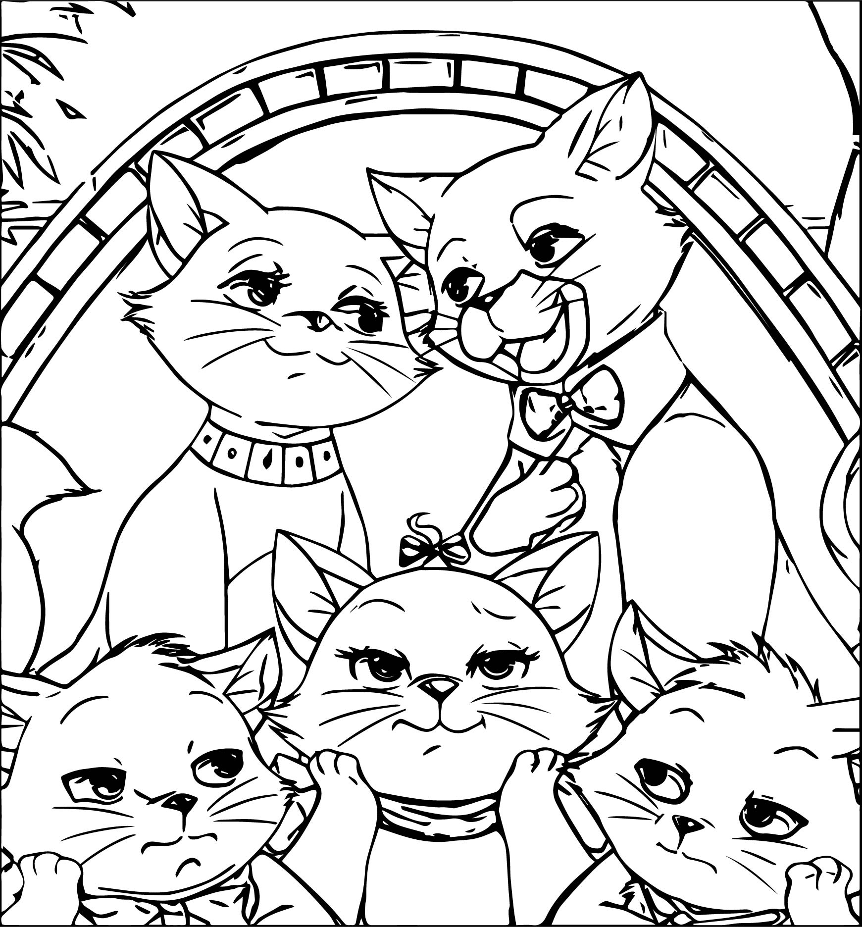 Disney The Aristocats Photo Coloring Page | Wecoloringpage.com