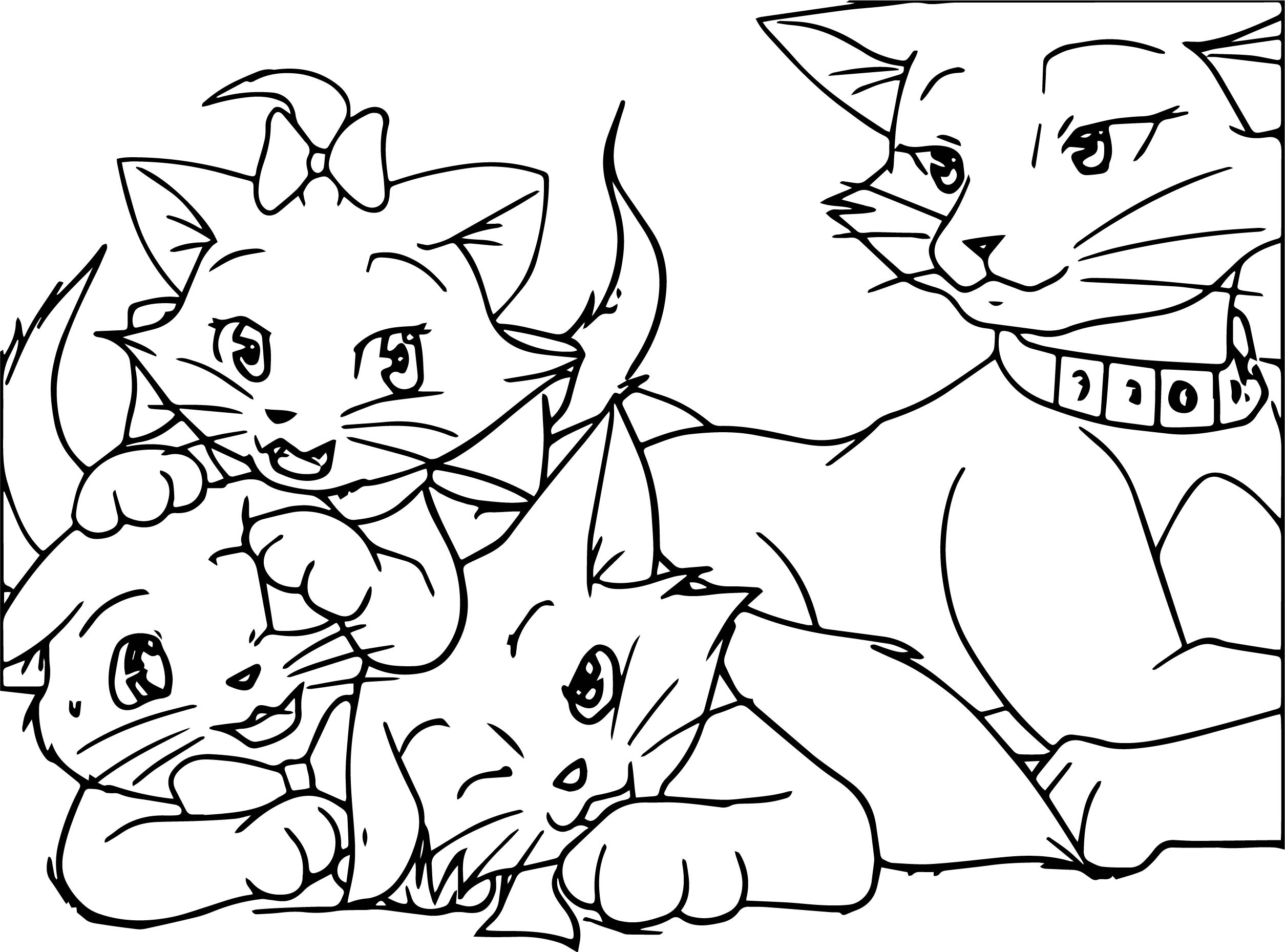 Disney The Aristocats Picture Coloring Page