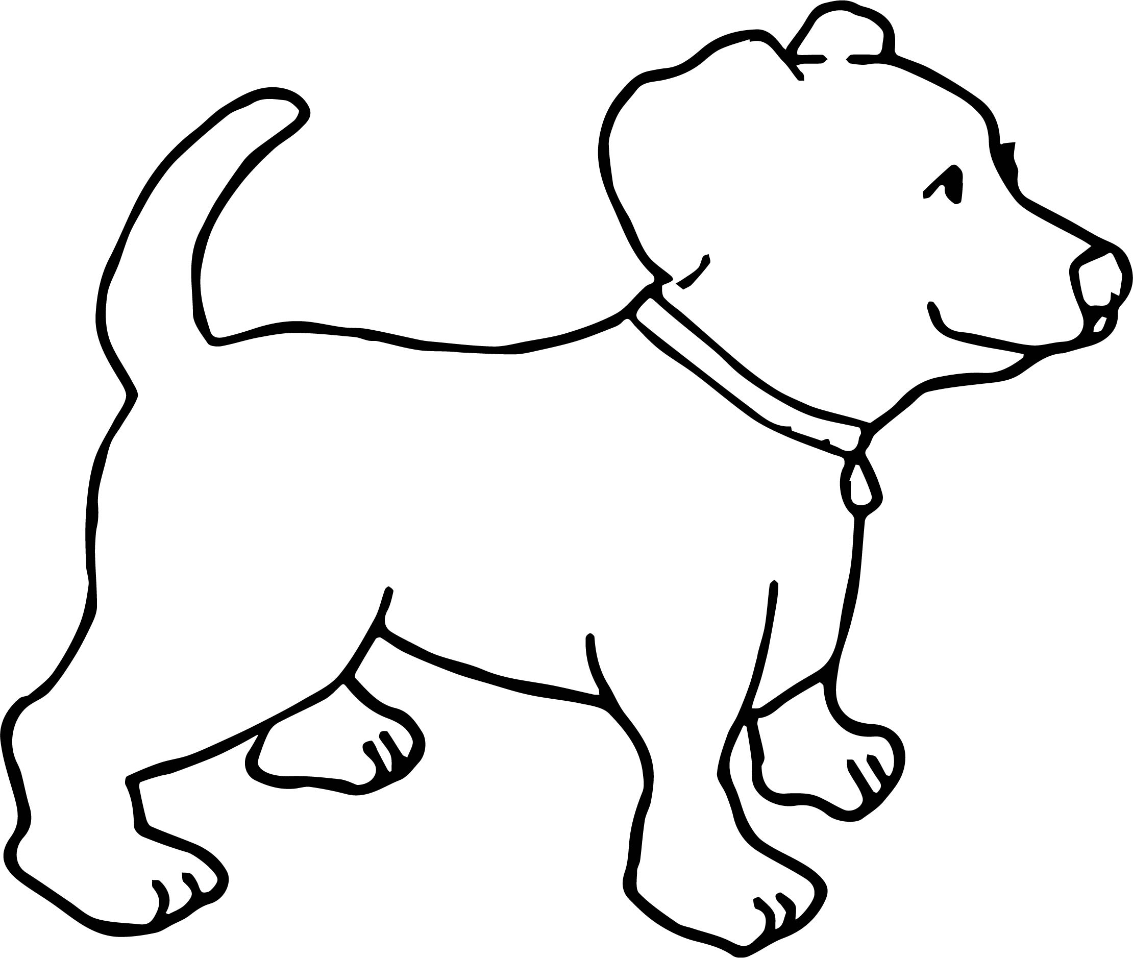 Funny Dogs Small Happy Dog Color Puppy Dog Coloring Page