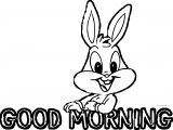 Good Morning With Bugs Bunny Baby Looney Toons Coloring Page
