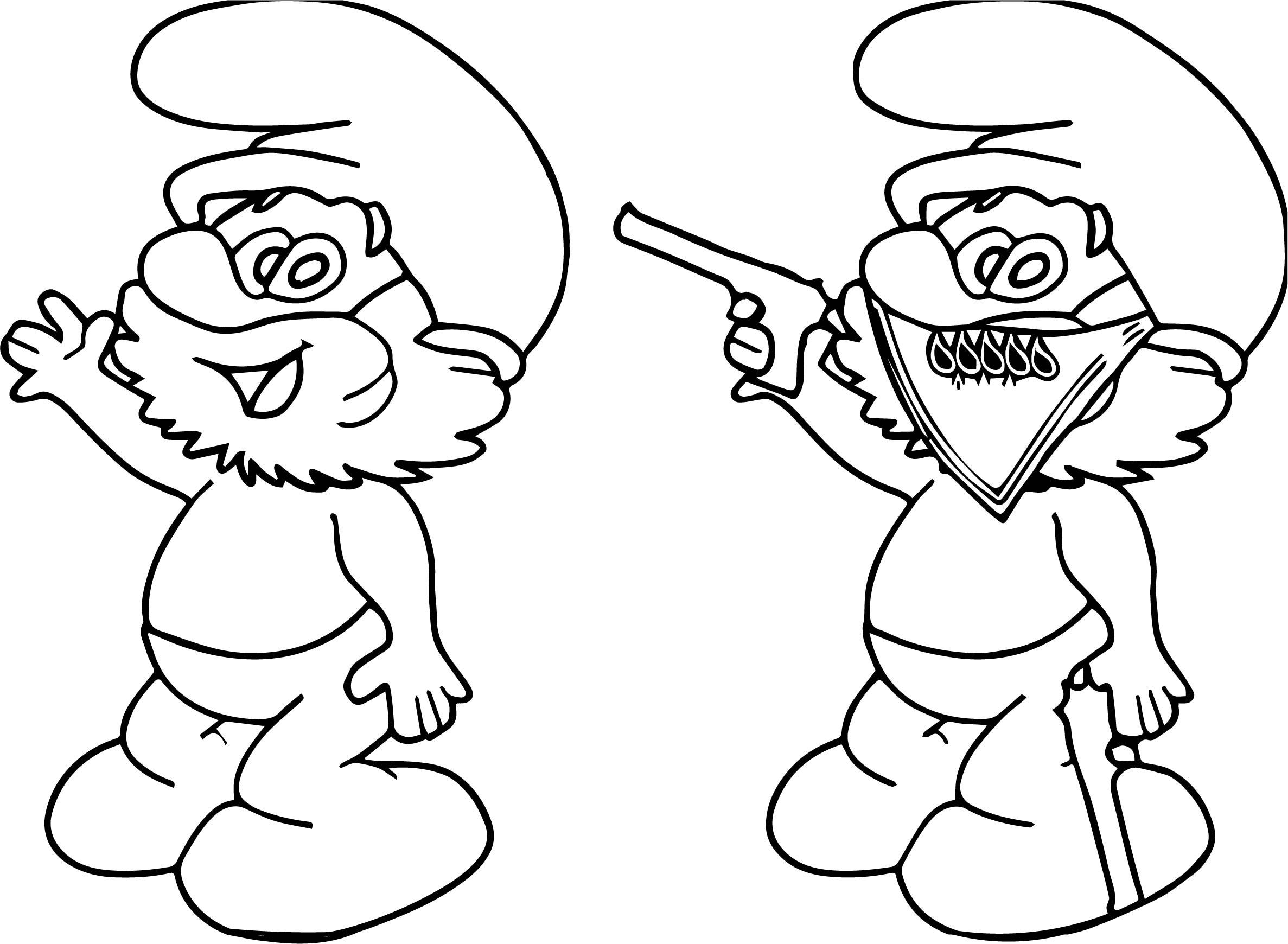 Good papa smurf vs gang papa smurf coloring page for Papa smurf coloring pages