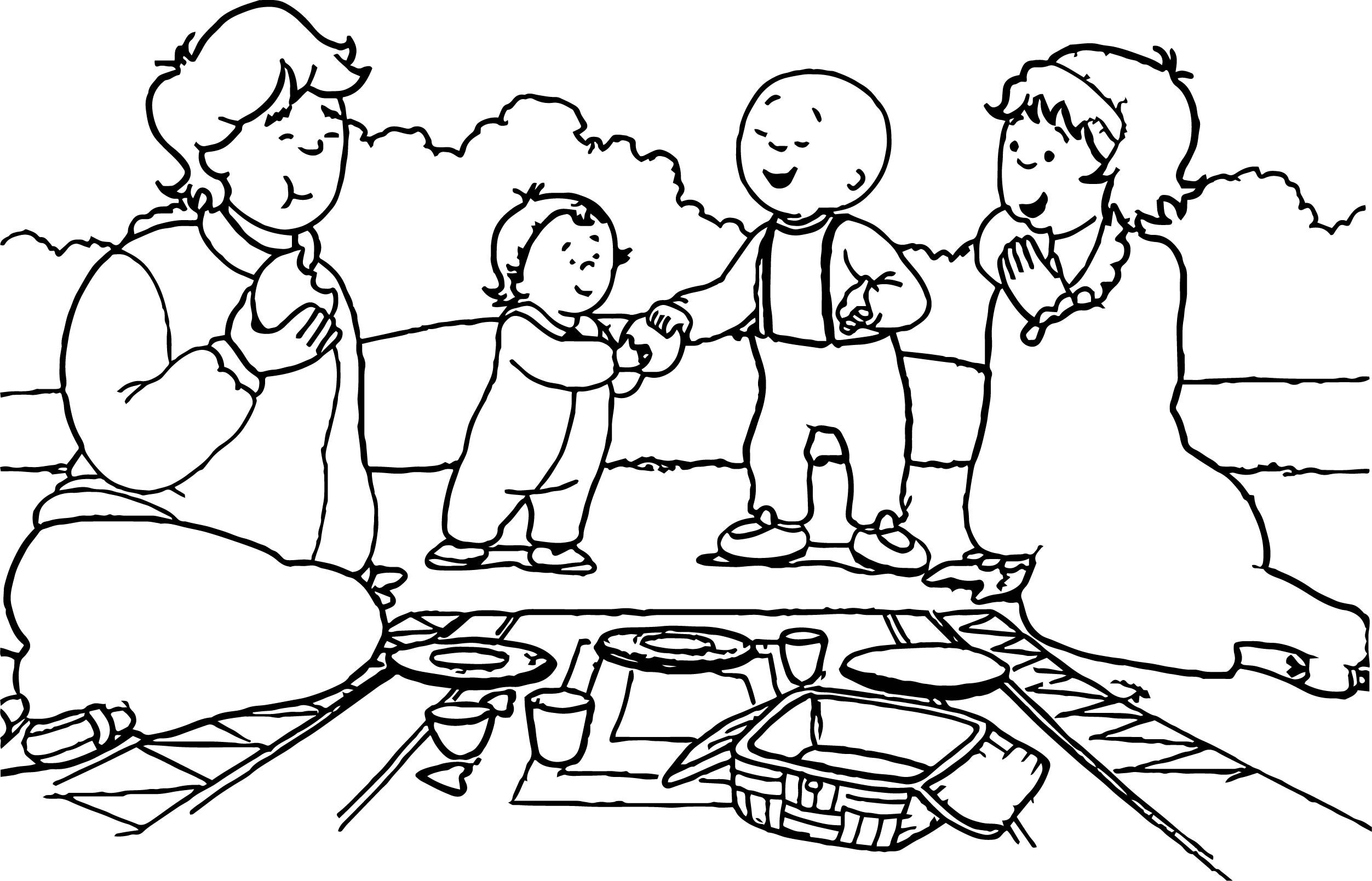 grandes differences entre series caillou coloring page - Caillou Coloring Pages