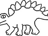 Green Art Dinosaur Stegosaurus Ancient Spikes Coloring Page