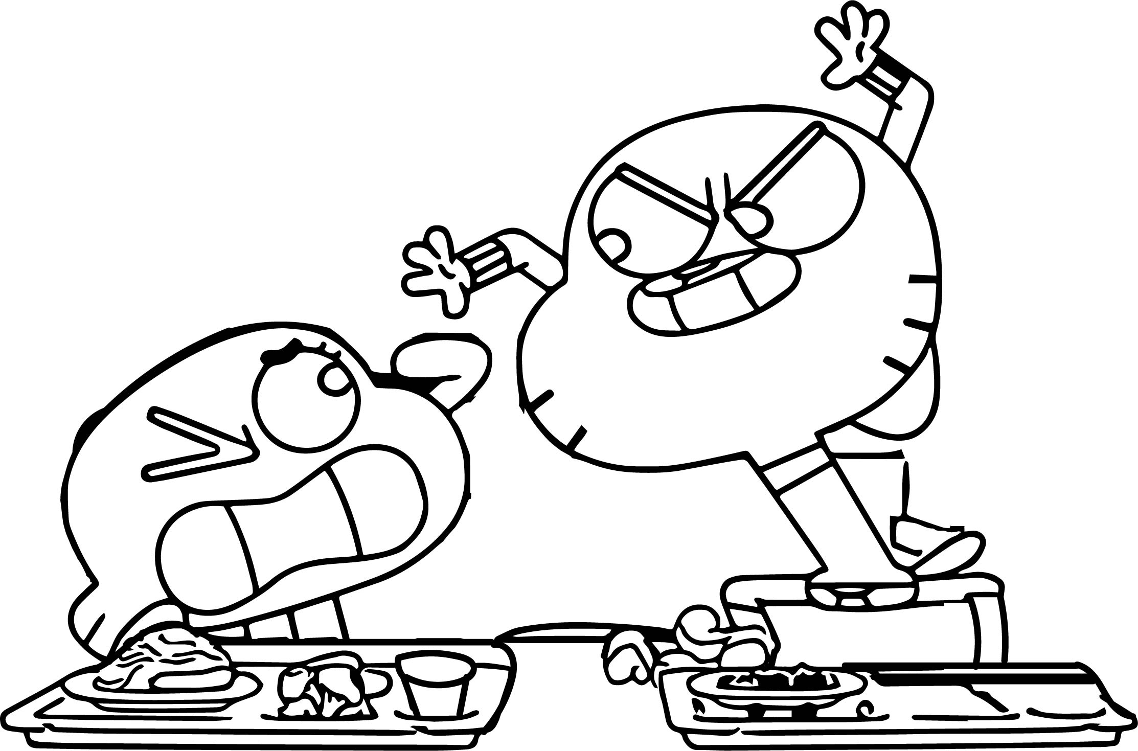 gumball darwin coloring pages - photo#11