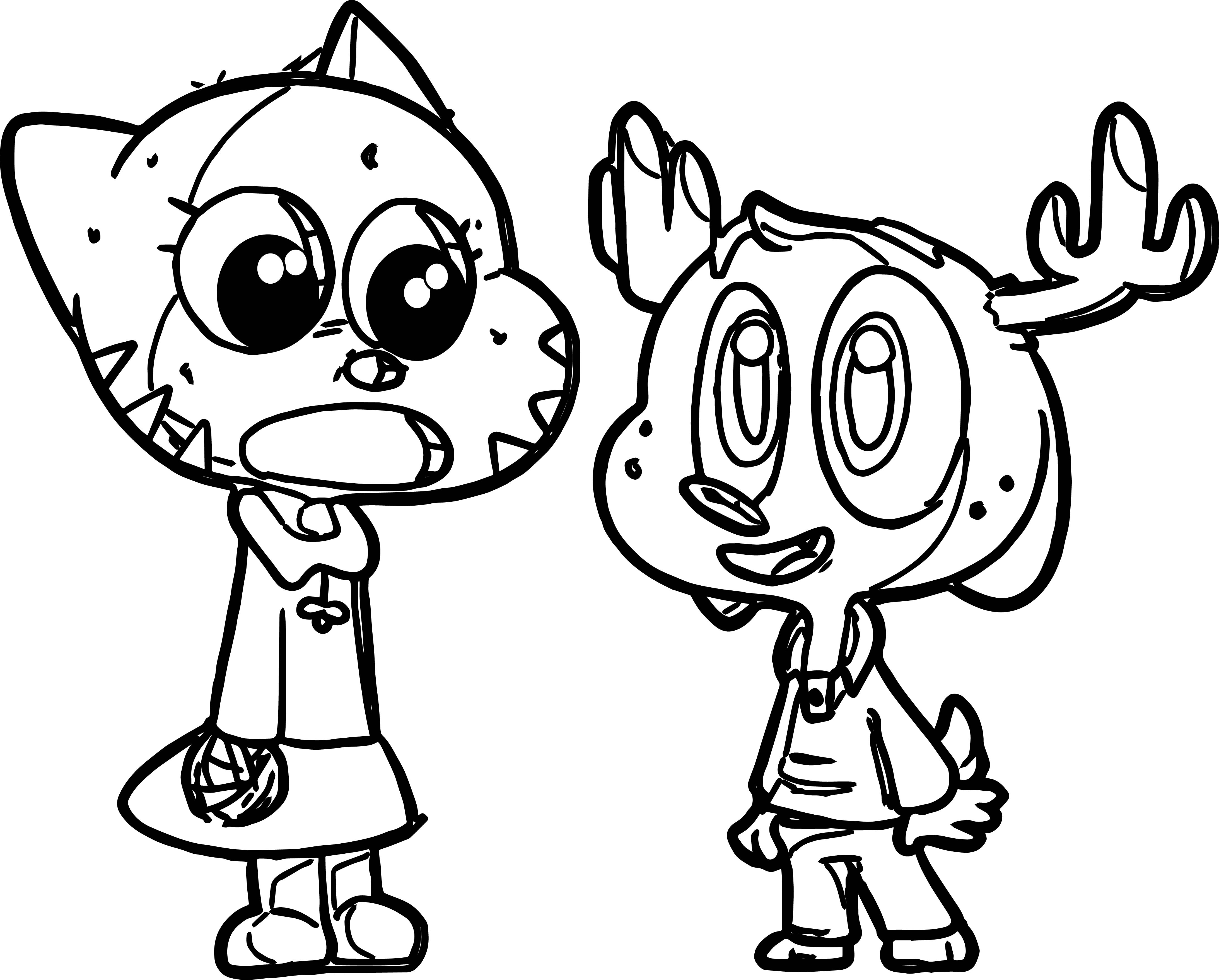 Gumball And Friend Coloring Page