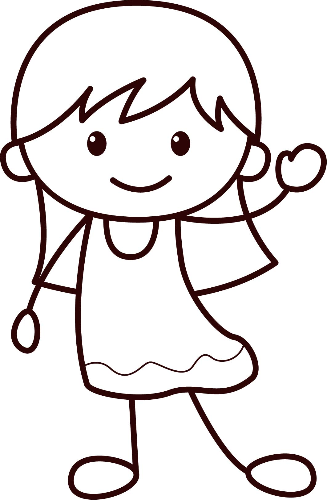 happy children coloring pages - photo#25