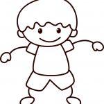 Happy Children School Small Boy Coloring Page