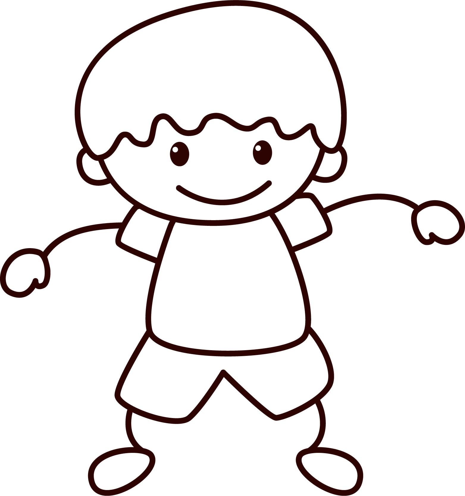 Happy Children School Small Boy Coloring Page