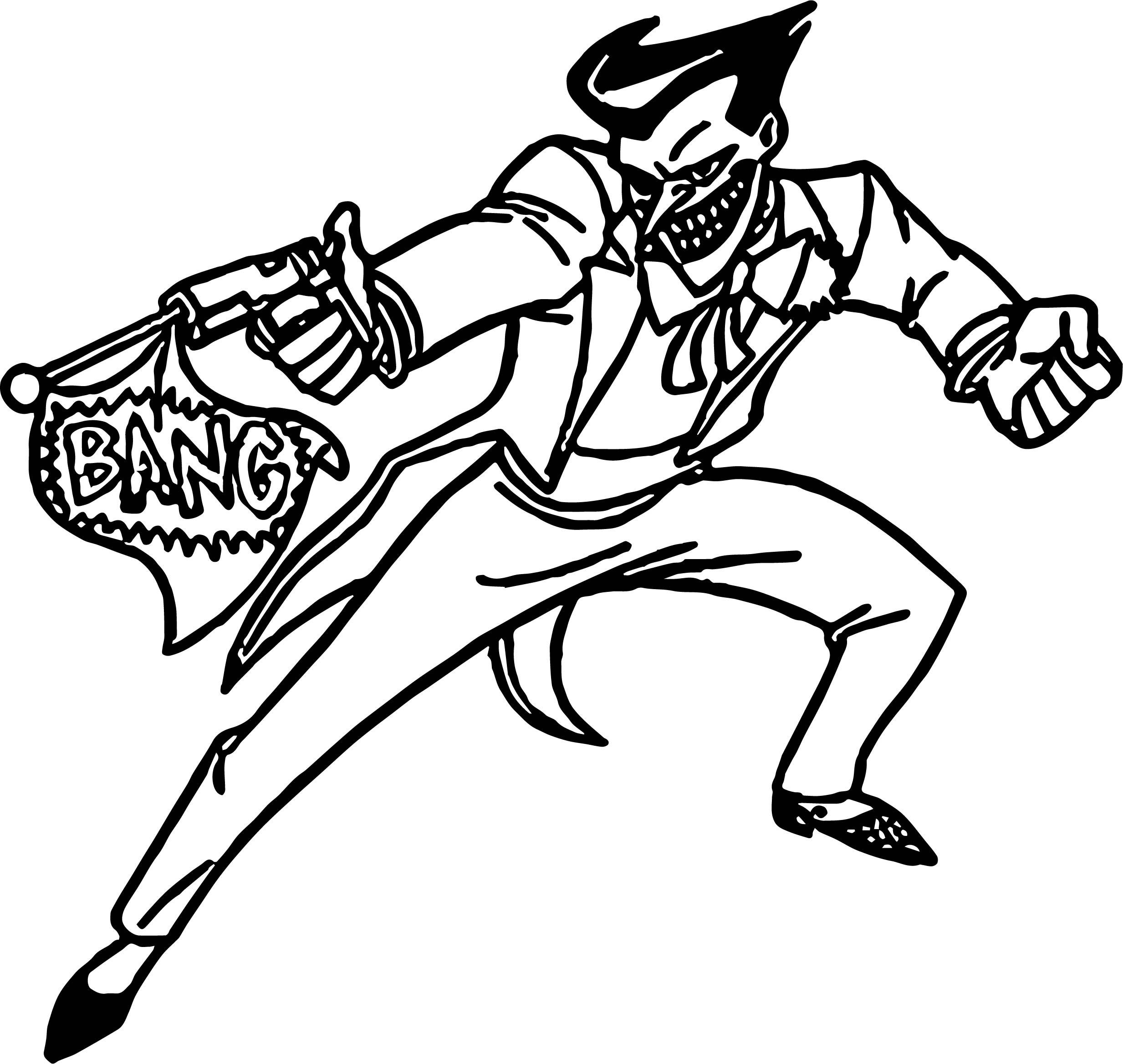 Joker From Batman Bang Joke Coloring Page