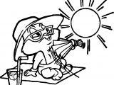 Looney Tunes Sun Bunny Coloring Page