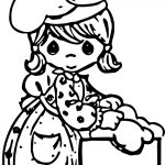 Make Cook Precious Moments Coloring Page