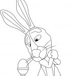 Masha And Bear Bunny My Easter Egg Coloring Page