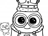 Minion King Bob Cute Coloring Page