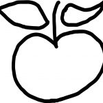 New Apple Coloring Page